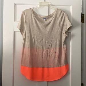 Express shirt - Beige & neon orange! Never worn